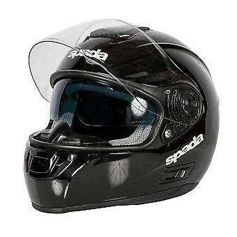 Spada SP16 Gloss Black Full Face Motor Helm ACU Goedgekeurd