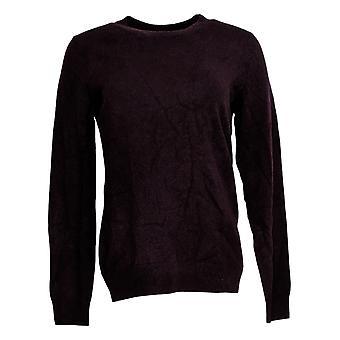 Soft By NAADAM Women's Sweater Cashmere Crew Neck Pullover Purple A370916