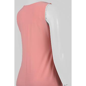 Sleeveless Boat Neckline Waved Lace Hem Jersey Dress