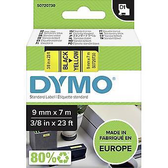 Märkning tape DYMO D1 40918 Tape färg: gul teckensnitt färg: svart 9 mm 7 m
