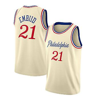 Philadelphia 76ers No.21 Embiid Loose Basketball Jersey Sport shirts 3QY005
