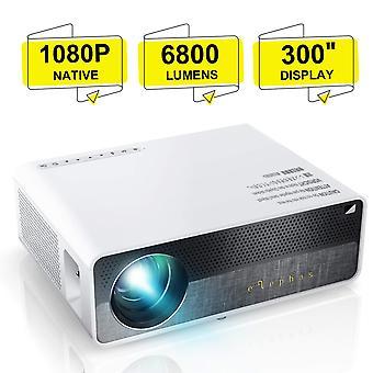 """Elephas proiector q9 nativ 1080p hd video proiector suport 2k, 6800 lumeni până la 300"""" imagine displa"""