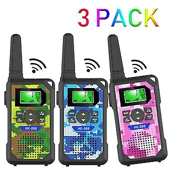 Walkie talkie kids,3 km long range walkie talkie toys with 8 channels, 2 way radios, led flashlight,
