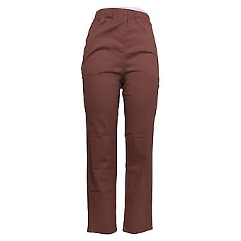 Denim & Co. Women's Jeans Original Waist Stretch W/ Pockets Brown A271388
