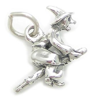 Noita luudanvarressa Sterling Hopea Charm .925 X 1 Noidat luudanvarressa - 3719