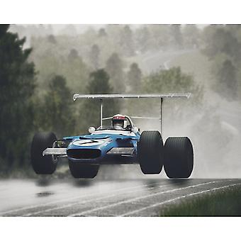 Larrini Jackie Stewart Flying Scot Mounted Picture