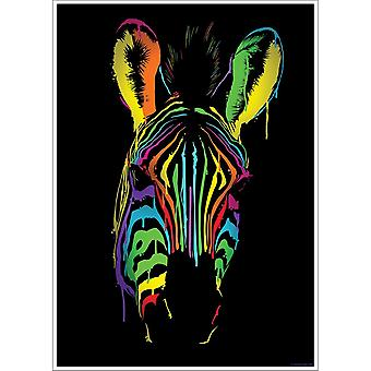 Unorthodox Collective Neon Zebra Poster