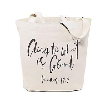 Cling To What Is Good, Romans 12:9-cotton Canvas Tote Bag