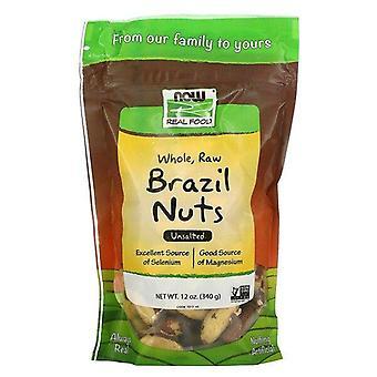 Now Foods, Comida Real, Entera, Nueces De Brasil Crudas, Sin Sal, 12 oz (340 g)