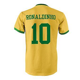 Ronaldinho 10 Brazil Country Ringer T-Shirt
