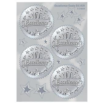 Excellence (Silver) Award Seals Stickers, 32 Ct.