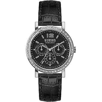 Versus by Versace Women's Watch Wristwatch Manhasset VSPOR2119 Leather