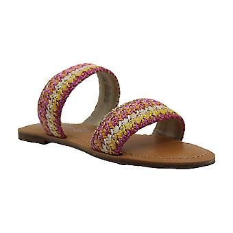 BC Footwear Womens PERFECTLY CRAFTED WOVEN Open Toe Casual Strappy Sandals