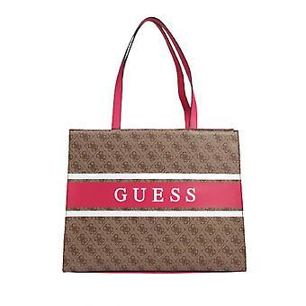 Bag Guess Shopper Monique Tote Latte/ Pink Bs21gu54 Sp789423