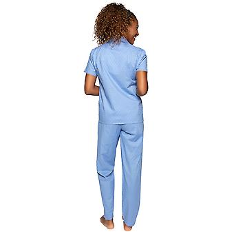 Cyberjammies Nora Rose Elizabeth 1527 Dames>> Blauw Gevlekte Katoenen Pyjama Set