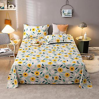 Double Bed Flower Pattern Flat Sheets ( Set 2)