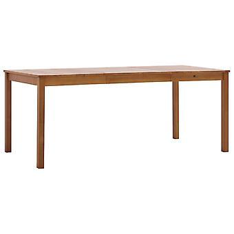 Dining Table Honey Brown 180x90x73 Cm Pinewood