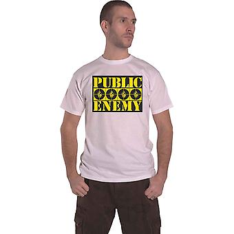 Public Enemy T Shirt Four Logos new Official Mens White