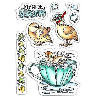 """Ciao Bella 4""""x6"""" Stamps - My First Bath"""
