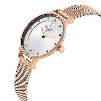Skagen SKW2151, analoge Uhr rose gold vergoldet Edelstahl,
