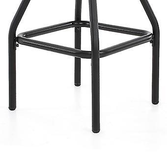 industriell stil bar avføring høyde justerbar svingbar naturlig furustol stol