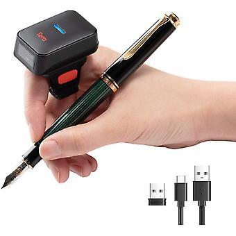Wokex Pro-Serie Mini 1MP CMOS Ring-Barcodescanner 1D 2D QR Barcode Scanner Wireless 2,4G &