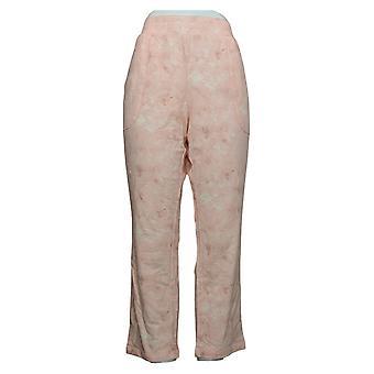 Isaac Mizrahi Live! Women's Petite Marble Printed Lounge Pant Pink A452723