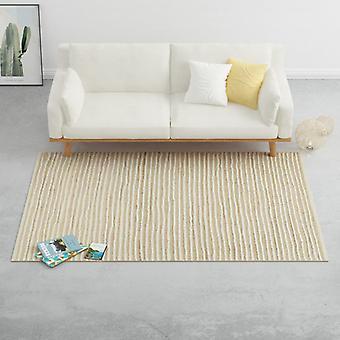 vidaXL Carpet Hemp Wool 80×150 cm Natural/White