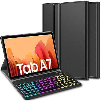 FengChun Tastatur Hlle fr Samsung Galaxy Tab A7 (Deutsches QWERTZ), Hlle mit 7 Farben