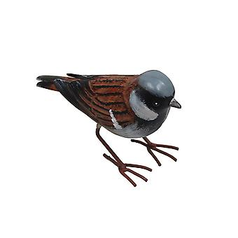 Primus lille metal hus spurv fugl haven ornament