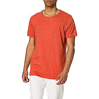 SELECTED HOMME SLHMORGAN Stripe SS O-Neck Tee W Noos T-Shirt, Ox Burned/Strip: Egret, M Man