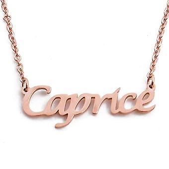 KL Caprice - Kaulakoru henkilökohtainen nimi, päällystetty 18 karat Ruusukulta, Säädettävä 16 - 19 cm