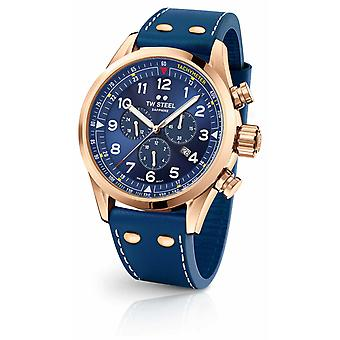 TW Steel Swiss Volante Gold PVD Plated Case Blue Dial SVS204 Watch