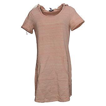 أي شخص المرأة الأعلى دافئ متماسكة الفرنسية تيري قصيرة الأكمام تونيك الوردي A291584