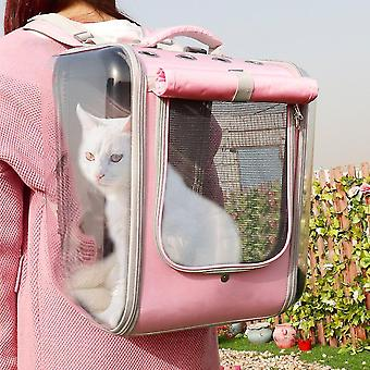 Pet Cat Carrier Backpack Breathable Cat Travel Outdoor Shoulder Bag For Small Dogs Cats Portable