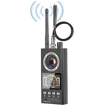 Radardetektor Spionagedetektor Wireless RF Signal Scanner Mini Laserkamera LUX LUTS GSM Gerät SUCHE GPS Tracker Locator (schwarz)