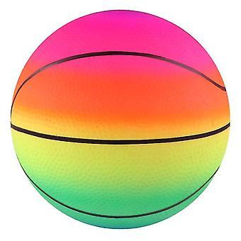 9 Inch Playground Rainbow Balls With Pump, Kid Toys(Basketball)