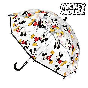 Bubble Umbrella Mickey Mouse Transparent (ø 45 cm)