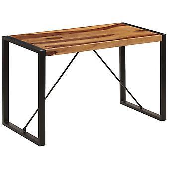 طاولة طعام vidaXL 120 × 60 × 76 سم خشب صلب