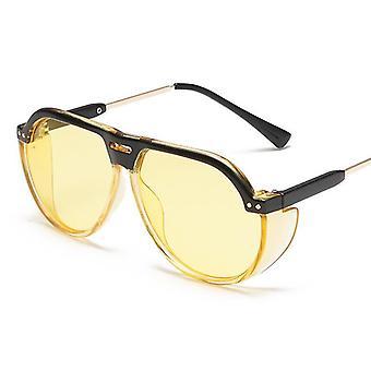Moda europea y americana Big Frame Gafas de sol Unisex (YELLO)