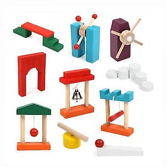 Domino Building Blocks Props Rainbow Stacking Educational Toys