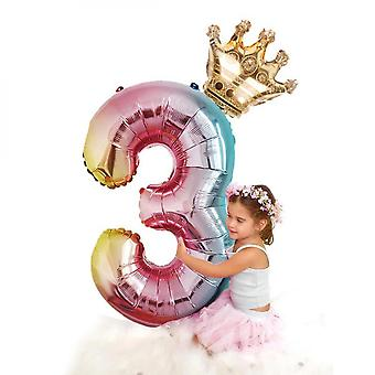 10 Pieces Of 32-inch Rose Gold Crown Numbers 0 To 9
