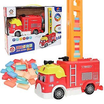 Automatic Brick Train Car Set Sound/light /colorful Plastic Game