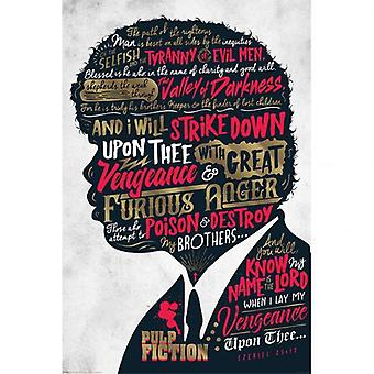Pulp Fiction Poster Ezekiel 25:15 183