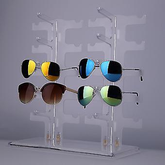 2 שורות 10 זוגות משקפי שמש משקפי שמש מחזיק ארון תקשורת מסגרת תצוגה לעמוד שקוף