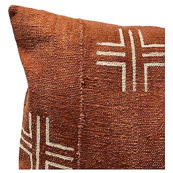 Pillowcases shams crosses on rust brown lumbar pillow cover sm149146