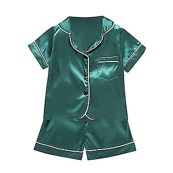 Neugeborene Baby Kleidung Set Kurzarm Solid Pocket Pyjama T-Shirt & Tops