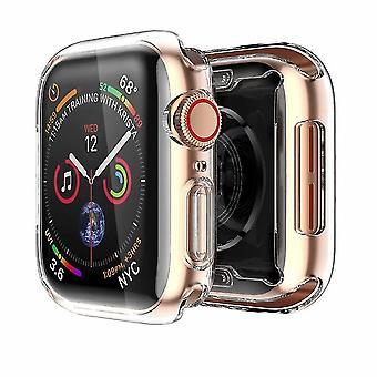 Carcasă Apple Watch Series 4 și Series 5 cu folie de protecție TPU încorporată de 40 mm protecție completă