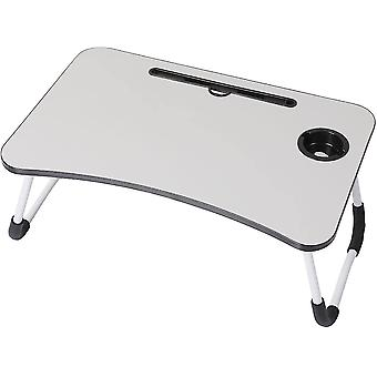 Folding tables foldable laptop bed table breakfast tray grey