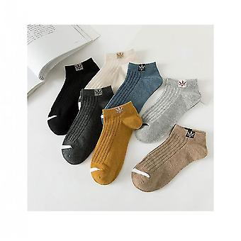 Mix 7 pairs cotton soft cushion comfort ankle socks for men mz1119